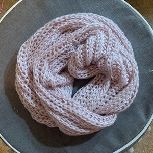 Pink Sparkly Infinity scarf